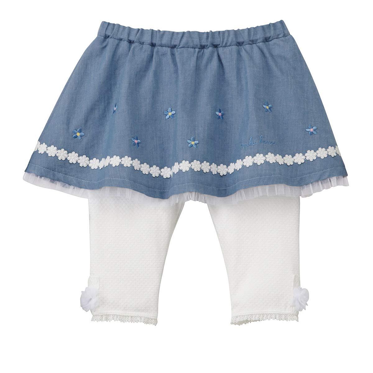ミキハウス (MIKIHOUSE) スカート付パンツ 12-3202-457 120cm ブルー 120 ブルー B07KK45XCM