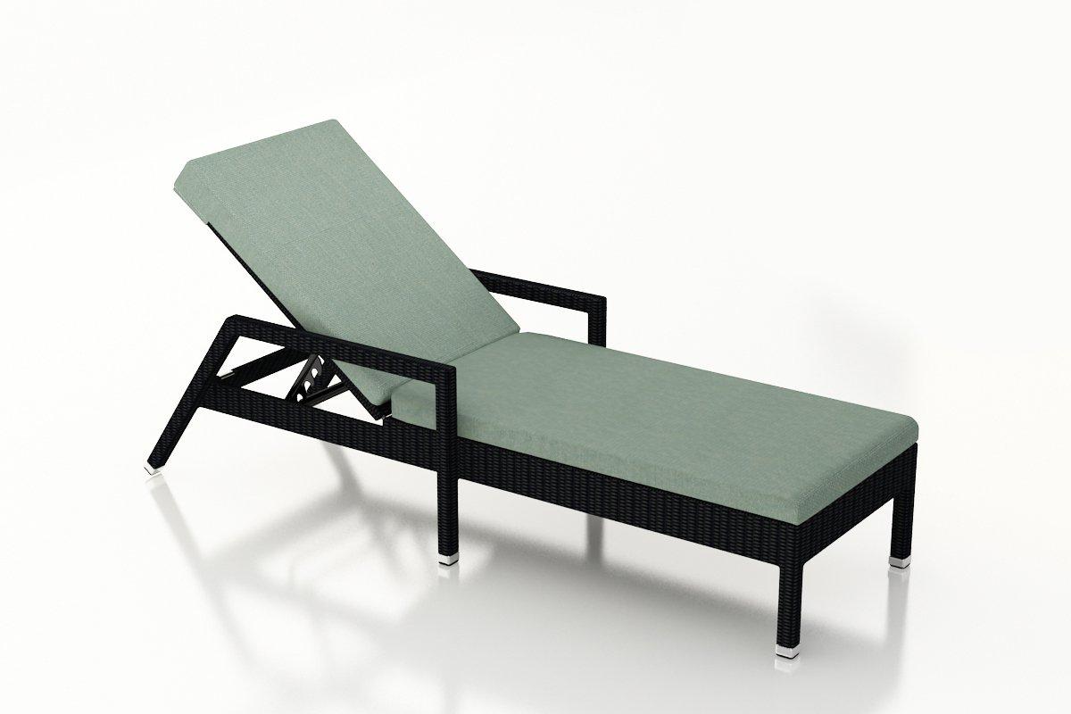 Harmonia Living HL-URBN-CB-RCL-SP Urbana Reclining Chaise Lounge, Canvas Spa Cushions