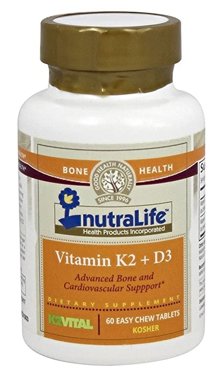 Nutralife - Vitamina K2 + D3-60Tabletas masticables