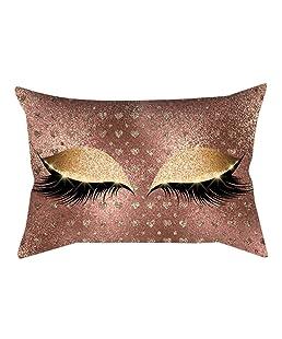 Tomatoa-Home Pillow Case, Decoration Eyelash Out Soft Velvet Cushion Cover 30x50cm Marble Pillow Cases