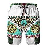 Hippie Vintage Car Mini Men Surf Swim Trunk Pants Pocket