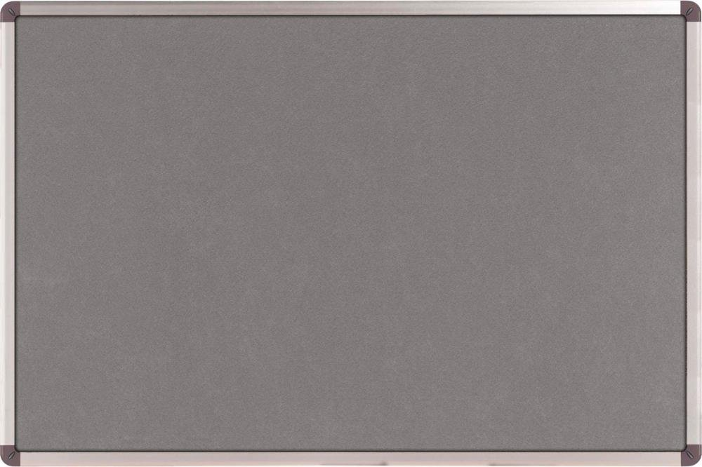 Nobo Classic Pizarra de fieltro para avisos color plateado 120 x 90 cm