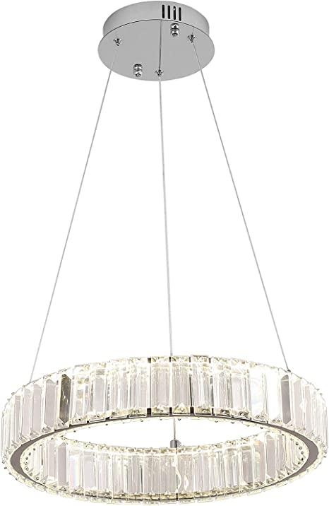 Modern Crystal Pendant  Chandelier Hanging Lamp Glass LED Ceiling Light Popular