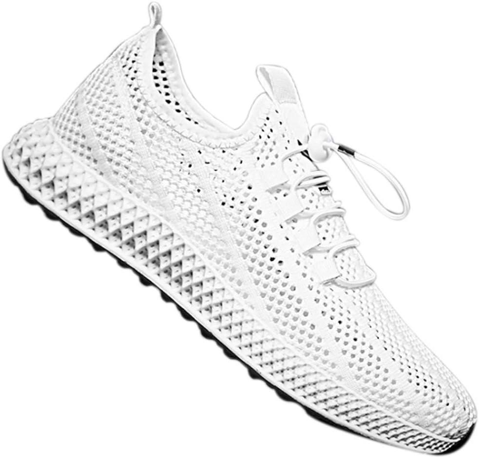 Mooyod - Zapatillas de Deporte para Hombre, Transpirables, de Malla, para Deportes al Aire Libre, Blanco, 42: Amazon.es: Hogar