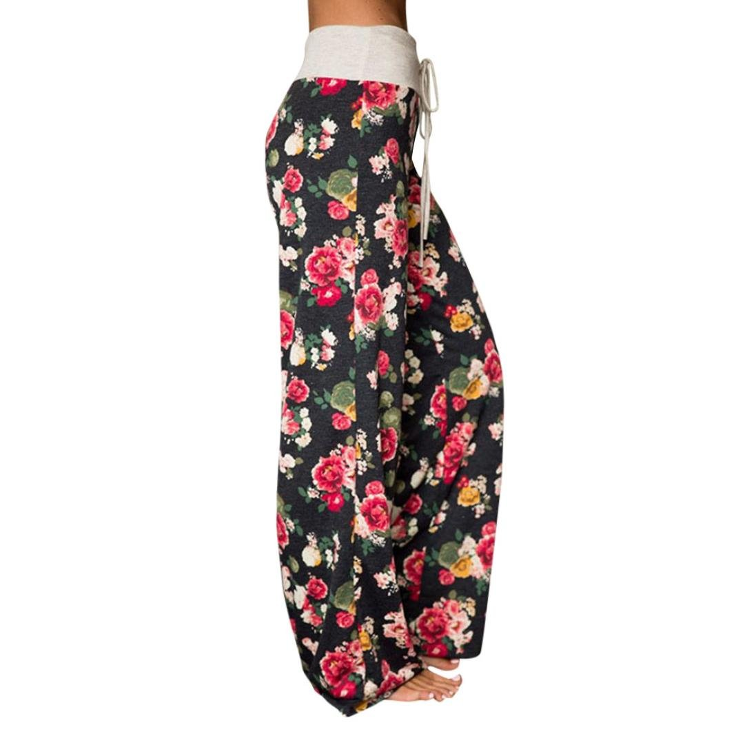 4aa07f44837797 Damen Shorts Sommer LHWY Große Größen Frauen Yogahosen Lose Druck Lang  Hosen Hohe Taille Spitzen Sporthose Vintage Drucken: Amazon.de: Bekleidung