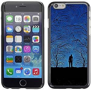 Carcasa Funda Prima Delgada SLIM Casa Case Bandera Cover Shell para Apple Iphone 6 Plus 5.5 / Business Style Blue Night Forrest