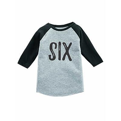 Tstars 6th Birthday Gift for Six Year Old Child 3/4 Sleeve Baseball Jersey Toddler Shirt