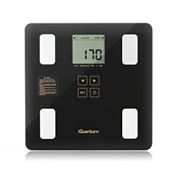 iGuerburn Digital Bluetooth Body Fat Scale with Free App - Smart Accurate Body Composition Weight Analyzer