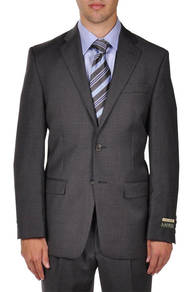 Ralph Lauren Men's Charcoal 2 Button 2 Piece Notch Lapel Superfine Wool Suit (50 X-Long)