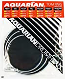 Aquarian Drumheads TCRSP2A-BK Black Response 2 Pack 10, 12, 14-inch