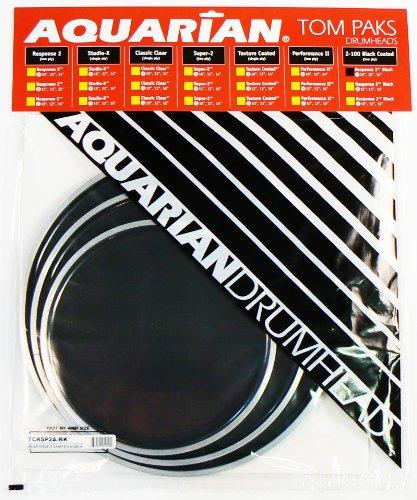 aquarian-drumheads-tcrsp2a-bk-black-response-2-pack-10-12-14-inch