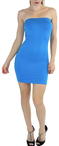 ToBeInStyle Women's Seamless Strapless Tube Dress