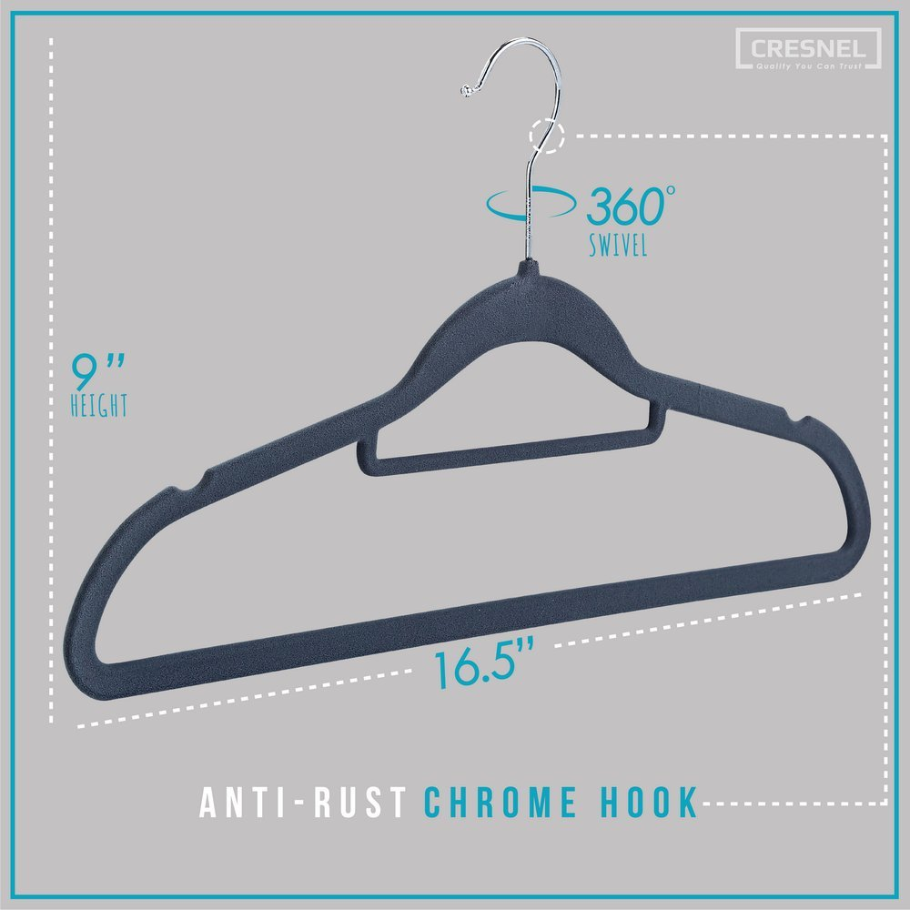 Cresnel Velvet Hangers 50 Pack Extra Strong To Hold John Deere 970 Wiring Diagram Heavy Coat And Jacket Non Slip Space Saving Design Excellent For Men Women Clothes