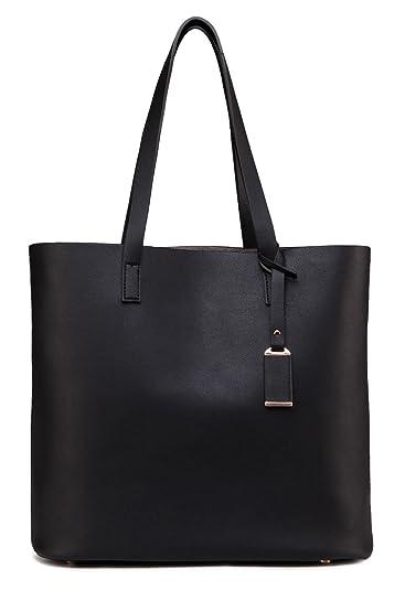 da74dc181992 Amazon.com  ilishop PU Leather Handbag Designer Pure Color Pures ...