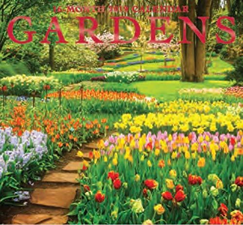 Garden Calendar - 16 Month Wall Calendar 2019 Gardens. Each Month Displays Full-Color Photograph. September 2018 - December 2019 Planning Calendar