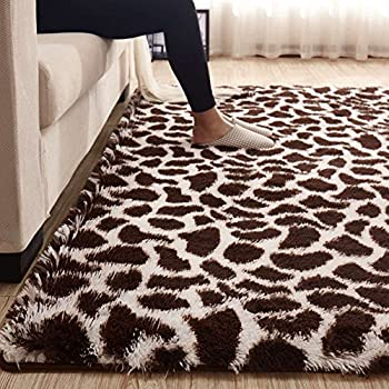 Amazon Com Maxyoyo Leopard Printed Large Fluffy Shaggy