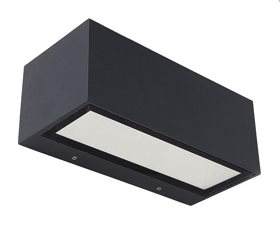 Lutec gemini lampada da esterno a led integrato 9 w grigio