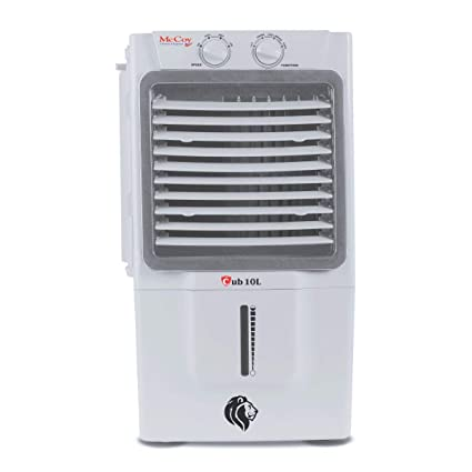 McCoy CUB 10L 10 Ltrs Honey Comb Air Cooler Without Remote Control (White/Grey))