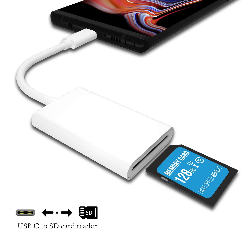 UNOOE - Lector de Tarjetas SD USB C, Adaptador de Alta Velocidad para iPad Pro, Mac Book Pro, Mac Book Air, USB C, Compatible con tabletas SDXC SDHC ...
