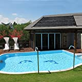 4.3ft x 9.8ft Above Ground In-ground Solar Panel Heating Water For Swimming Pools Roof
