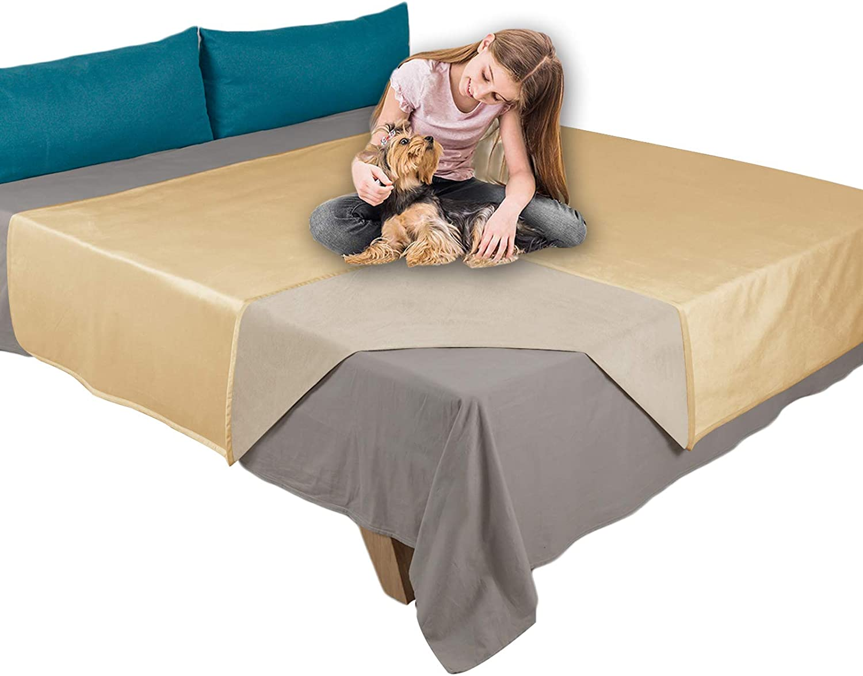 Ameritex Pet Bed Blanket Reversible 100% Waterproof Velvet Super Soft for Sofa and Bed