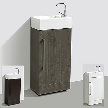 Waschbecken mit unterschrank gäste wc  Gäste-WC für Standmontage Badmöbel Waschbecken mit Unterschrank ...