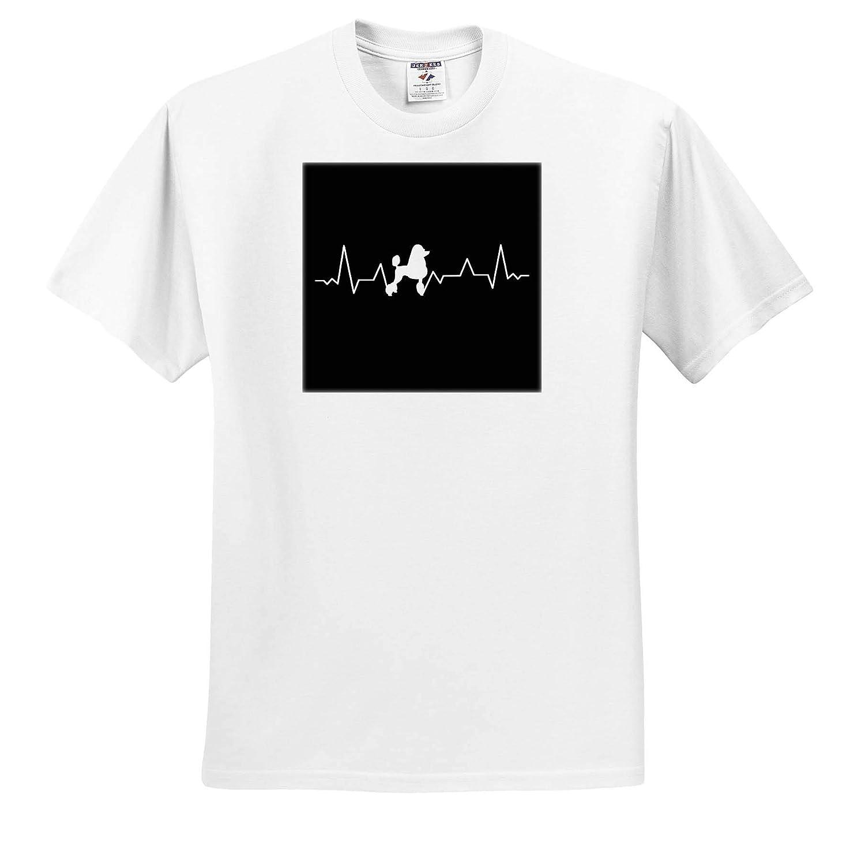 T-Shirts 3dRose Sven Herkenrath Dog Heartbeat with Illustration Art with Poodle Dog