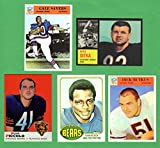 Chicago Bears (5) Card Football Rookie Reprint Lot Mike Ditka,Gale Sayers, Dick Butkus, Walter Payton, Brian Piccolo