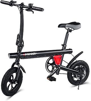 Spadger bicicleta eléctrica ligera y plegable, ruedas de 12 ...