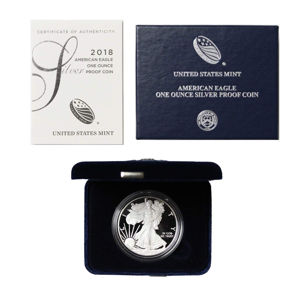2018-W American Silver Eagle Proof with box and COA