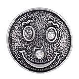 Wholesale Vocheng 18mm Interchangeable Jewelry 2 Colors Clown Button Vn-101620 Pack of 20pcs (White)