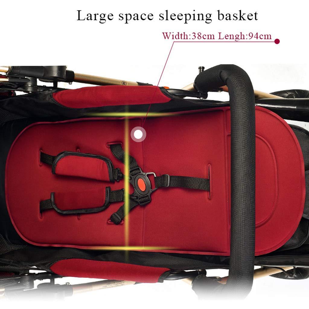 51 x 69 x 102 cm Poussette Landau Poussette Jogger R/églable Syst/ème Voyage Pliable /à Deux Voies Capacit/é de Charge 15kg Baby carriage Poussette et Nacelle