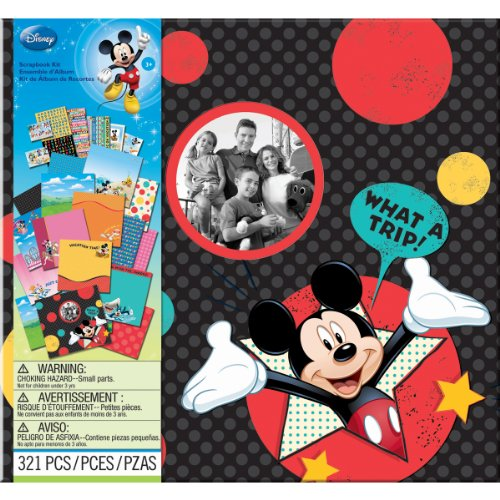 Disney Album - EK Success Brands Disney Scrapbook Kit, Mickey Travel
