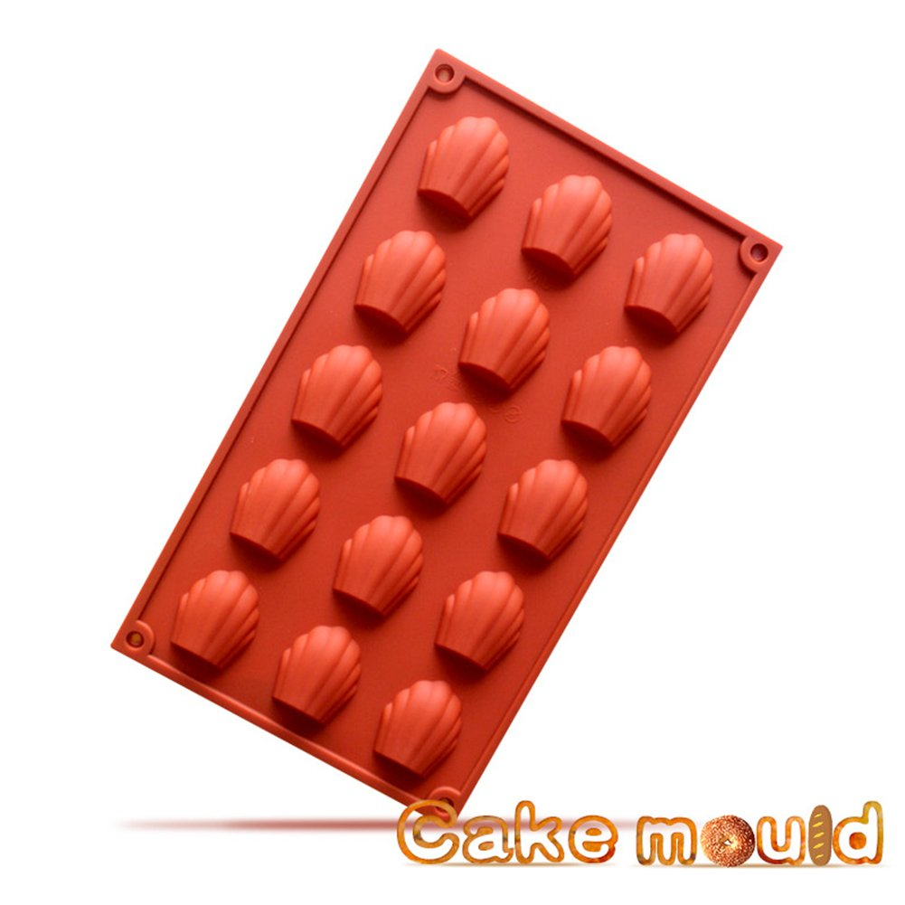 15-Cavity Silicone Madeleine Pan Cookie Kitchen Mold,Baking Mold, Handmade Soap Moulds for Homemade Madeleine Cookies, Chocolate, Candy, and More