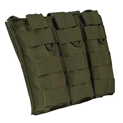 Peicees M4 M16 AR-15 Type Magazine Pouch Mag Holder Triple Airsoft Molle  Mag Pouch 5c06ec1e29