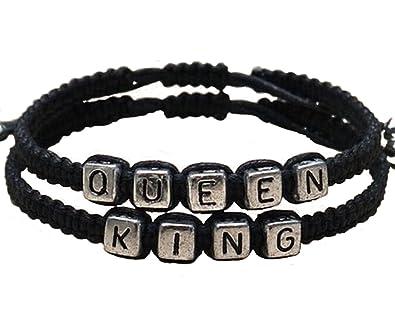 bracelet couple king queen. Black Bedroom Furniture Sets. Home Design Ideas
