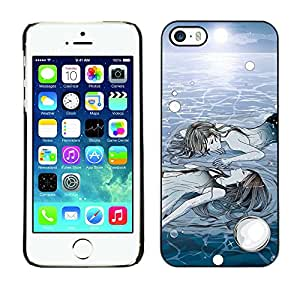 For Apple iPhone 5 / iPhone 5S Case , Ice Deep Sun Winter Meaning Painting - Diseño Patrón Teléfono Caso Cubierta Case Bumper Duro Protección Case Cover Funda