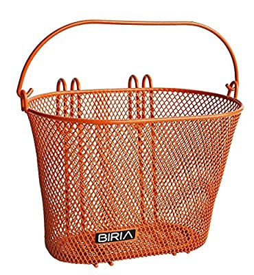 Biria Basket with hooks Orange, Front, Removable, Children wire mesh SMALL kids Bicycle basket, NEW, Orange by
