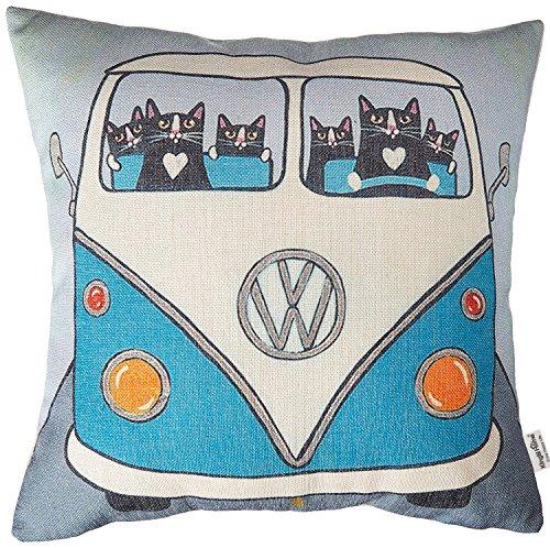 Kingla Home Cotton Linen Square Decorative Throw Pillow Covers 18