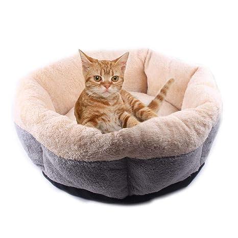 Bloomma Cama para Gatos de Interior Redonda mullida, Cama cómoda y acogedora para Perros y