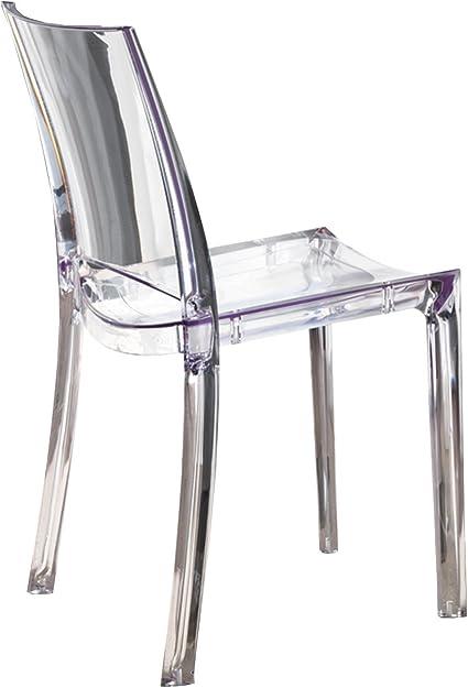 Outlet Sedia Design Sedia Art 035 B Cristal Policarbonato Trasparente Amazon It Casa E Cucina