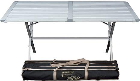 Tavolo Da Campeggio Alluminio.Tavolino Da Campeggio Genius In Alluminio 150 X 80 Cm Amazon It