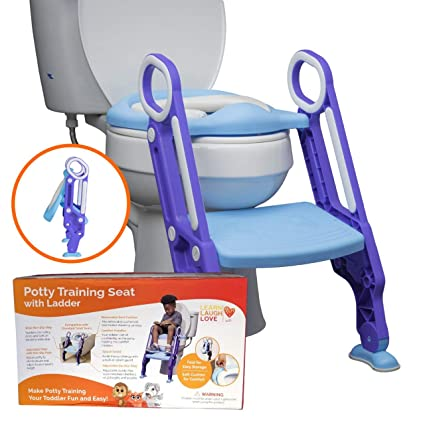 Green Color : Blue Average code Childrens Ladder Toilet Adjustable Portable Baby Bedding Chair Child Toilet Seat Folding Seat