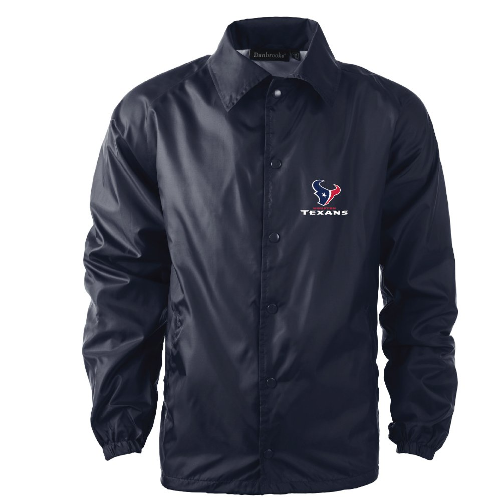 NFL Houston TexansメンズCoachesウィンドブレーカージャケット、XL、海軍   B01CJRVTLK