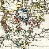 Iceland Denmark Holstein Seeland Faroe islands old map 1834 Stieler scarce