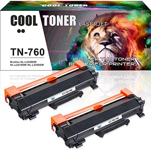 Cool Toner 2PK Compatible for Brother TN760 TN730 HL-l2350dw MFC-l2750dw Toner Cartridge for Brother HLL2350DW HLL2395DW DCP L2550DW HL-L2390DW MFC l2750DW MFC l2710DW Toner Ink Laser Printer -NO ()