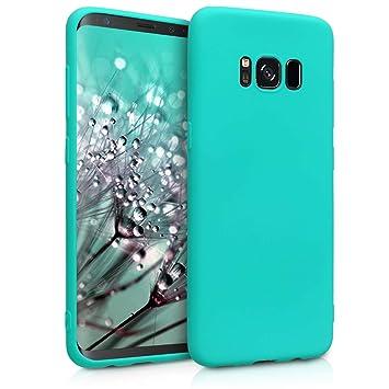 kwmobile Funda para Samsung Galaxy S8 - Carcasa para móvil en [TPU Silicona] - Protector [Trasero] en [Turquesa neón]