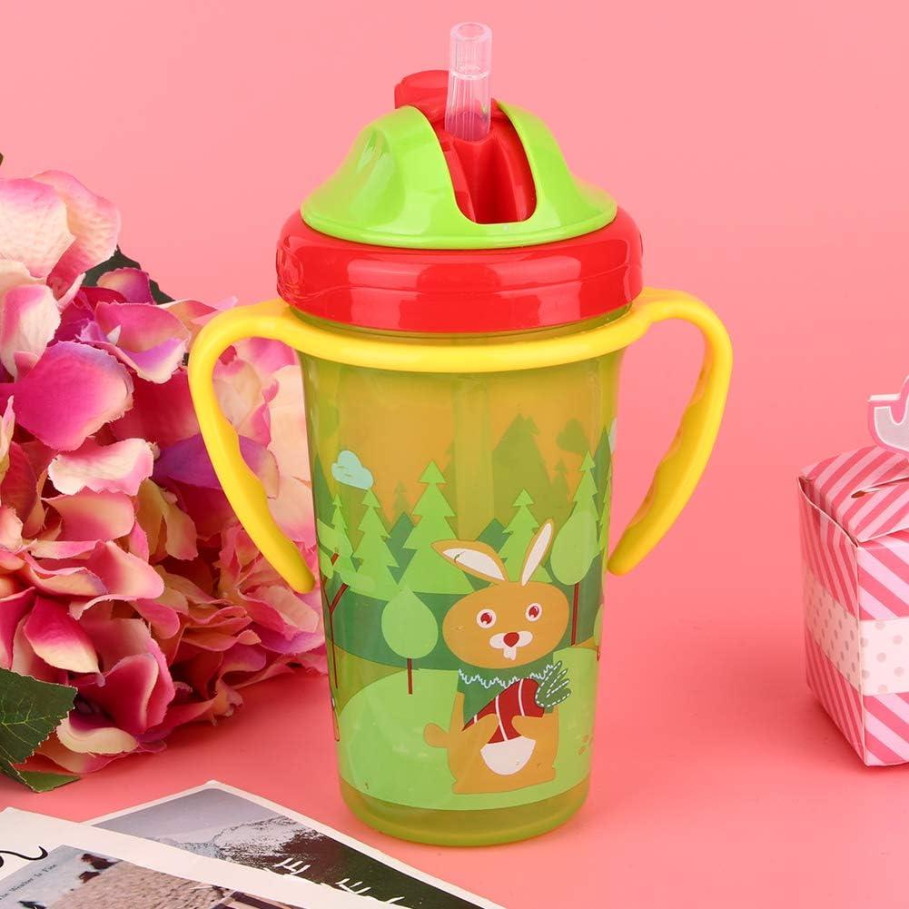 Enfants Tasse /À Boire 300 ML Infantile Tasse De Paille Tasse Antid/érapante /Étanche /À Leau Potable Tasse Double Poign/ée Tasse Dapprentissage pour les Enfants Blue
