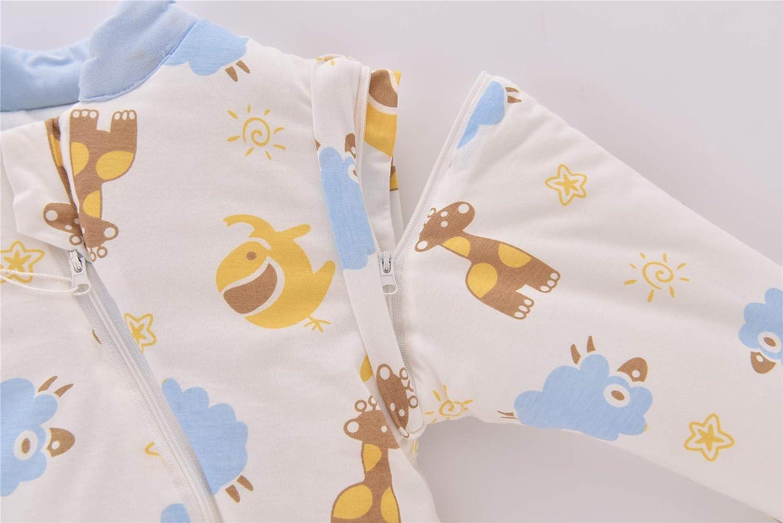 Chilsuessy Baby Winterschlafsack Schlafsack mit F/üssen Kinder Ganzjahres Winter Schlafsack Schlafanzug f/ür Jungen und M/ädchen M//Koerpergroesse 70-85cm, Blau Fox