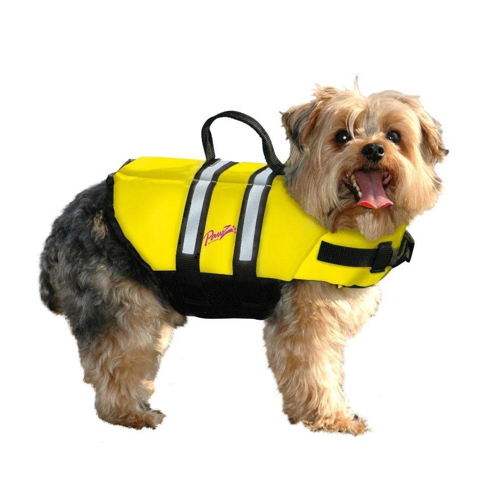 Pawz Pet Products Doggy Life Jacket, Yellow, XX-Small